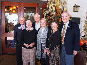 From left to right: 1990- Bob Grimm, 1996 - Penny Lave, 2002 - Bob Adams, 2011 - Pinky Whelan, 2012 - Jane Reed, and 2000 - Roy Lave