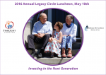 2016 Annual Legacy Circle Luncheon, May 10th
